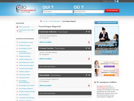 Psychologue Bagnolet 93170 - Psychologue -...