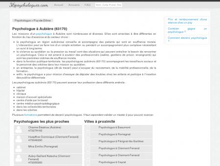 Psychologue à Aubière (63170)