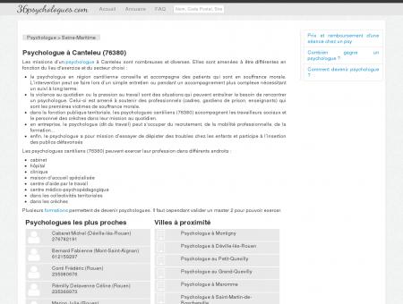Psychologue à Canteleu (76380) - Annuaire...