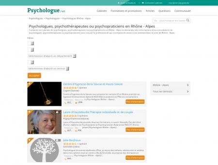 Psychologues Rhône - Alpes - Psychologue.net