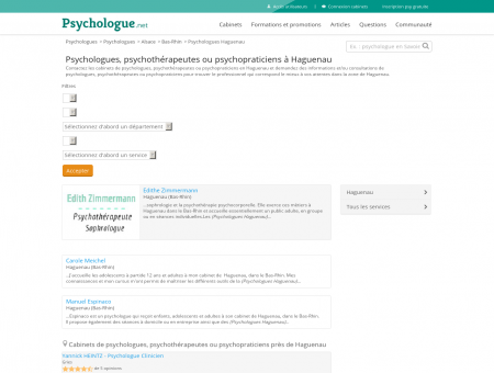 Psychologues Haguenau - Psychologue.net