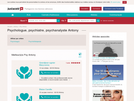 Psychologue Antony 92160 - Guide des...