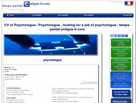 CV de Psychologue / Psychologue, cherche un...