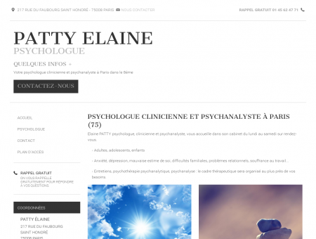 Psychanalyste, psychologue - Paris | Patty Elaine