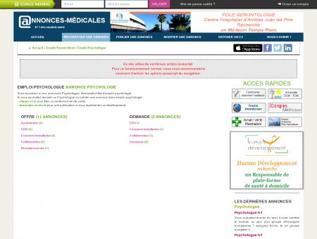 Emploi Psychologue - Annonce psychologie -...