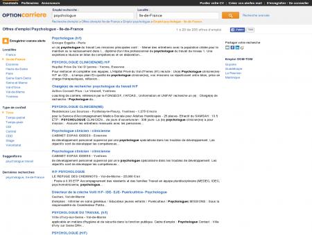 Offres d'emploi Psychologue - Ile-de-France ...
