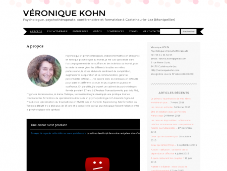 Véronique Kohn, Psychologue et...