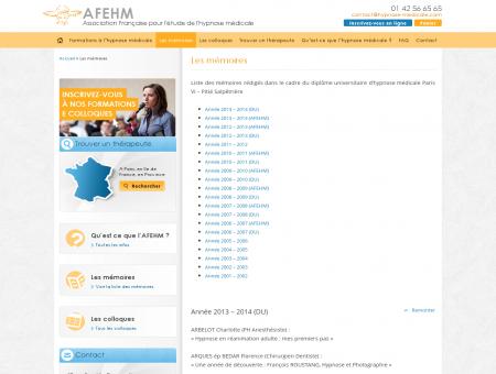 Les mémoires - AFEHM | Association Française...
