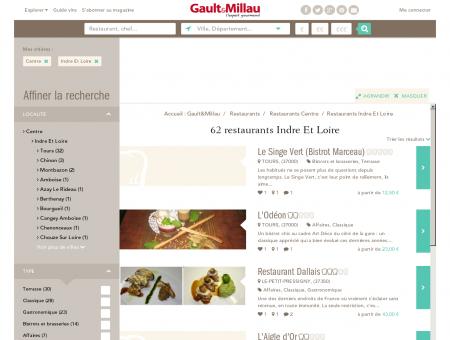 Restaurants Indre Et Loire - Gault et Millau