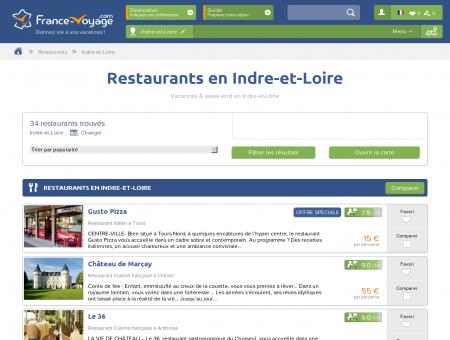 Restaurants en Indre-et-Loire - Vacances &...