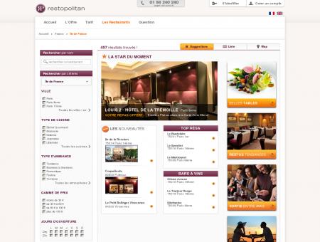 Restaurant Île de France - Liste de...