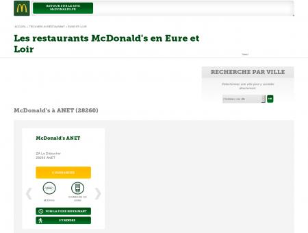 Les restaurants McDonald's du département...