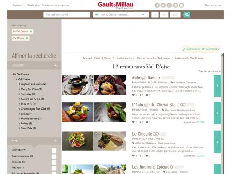 Restaurants Val D'oise - Gault et Millau