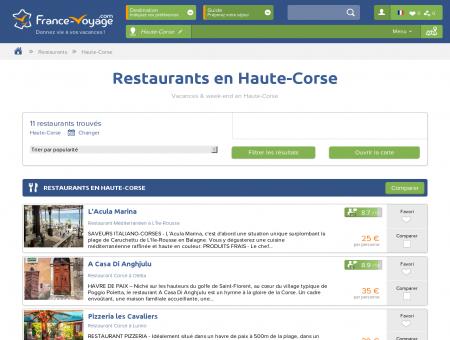 Restaurants en Haute-Corse - Vacances &...