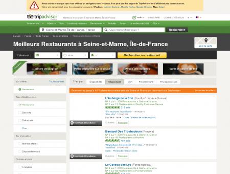 Les 10 meilleurs restaurants à Seine-et-Marne...