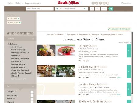 Restaurants Seine Et Marne - Gault et Millau
