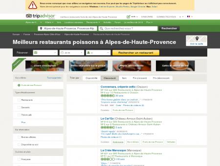 5 meilleurs restaurants fruits de mer Alpes-de...