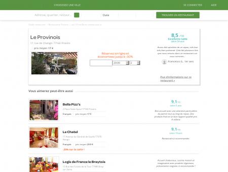 Restaurant Le Provinois | le-provinois.lafourchette.com