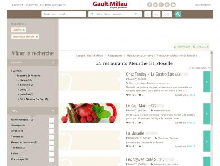 Restaurants Meurthe Et Moselle - Gault et...