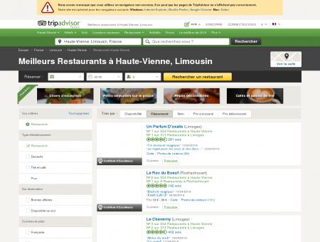 Les 10 meilleurs restaurants à Haute-Vienne -...