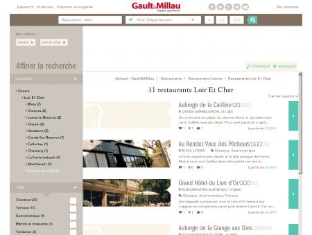 Restaurants Loir Et Cher - Gault et Millau