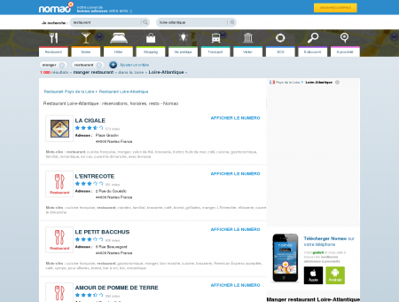 Restaurant Loire-Atlantique : réservations,...