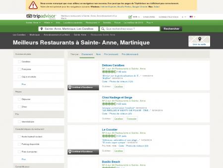 Les 10 meilleurs restaurants à Sainte- Anne -...