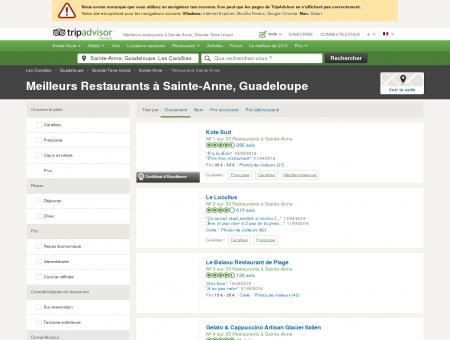 Les 10 meilleurs restaurants à Sainte-Anne -...