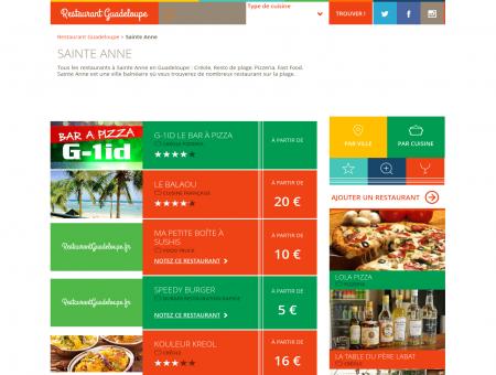 Restaurant Sainte Anne Guadeloupe