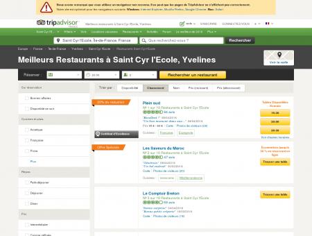 Les 10 meilleurs restaurants à Saint Cyr l'Ecole ...
