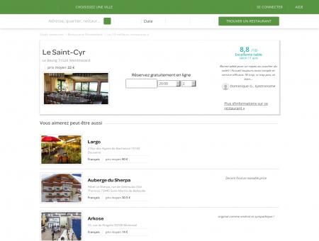 Restaurant Le Saint-Cyr   le-saint-cyr.lafourchette.com