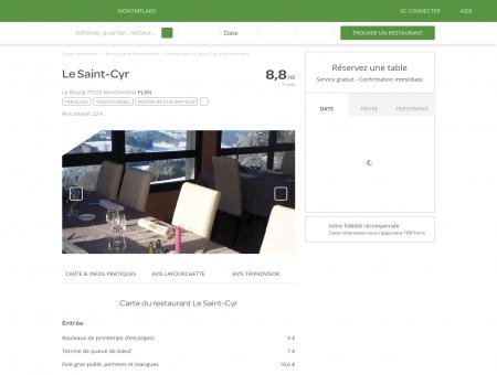 Restaurant Le Saint-Cyr à Montmelard -...