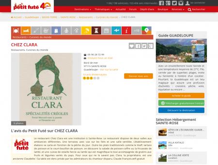 CHEZ CLARA - SAINTE-ROSE - Page 1 - Petit...