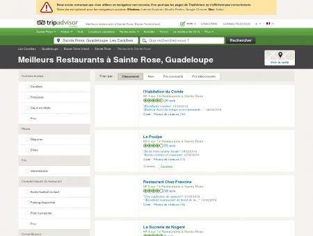 Les 10 meilleurs restaurants à Sainte Rose -...