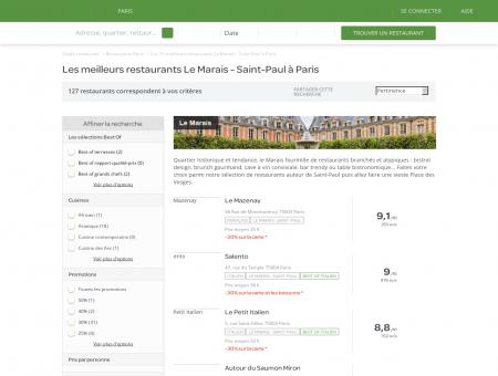 Les 10 meilleurs restaurants Le Marais - Saint...