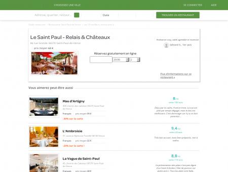 Restaurant Le Saint Paul | le-saint-paul.lafourchette.com