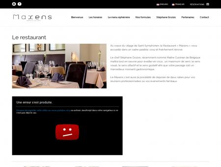 Le restaurant - Maxens | Maxens vous offre un...