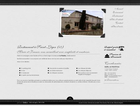 Nos services / Restaurant 17 / LE RUSTICA »