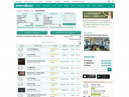 Restaurant Saint Quentin : Le guide des...