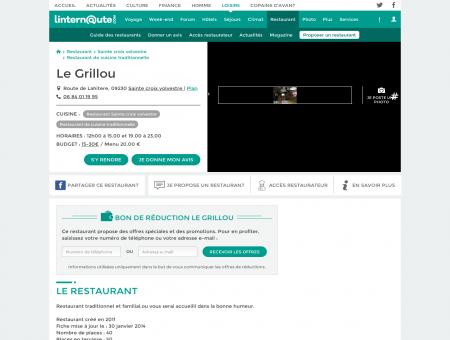 Le Grillou, restaurant de cuisine traditionnelle à...