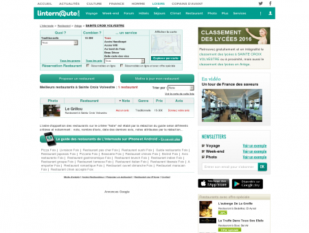 Restaurant Sainte Croix Volvestre : Le guide...