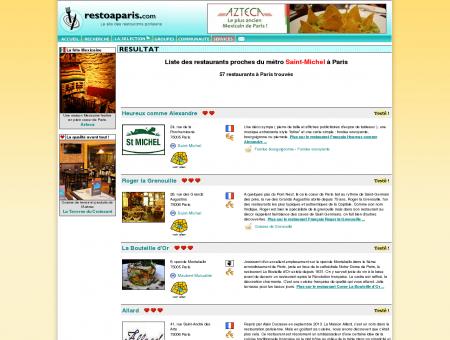 Restaurant à Paris près de la station de métro...