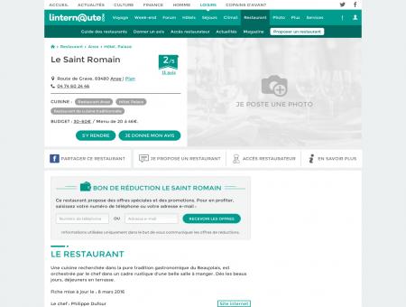 Le Saint Romain, hôtel, palace à Anse, avec...