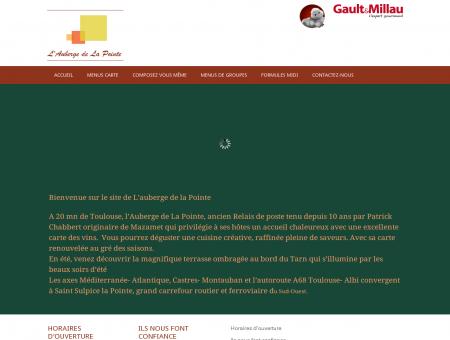 Aubergedelapointe.fr | Le site du restaurant...