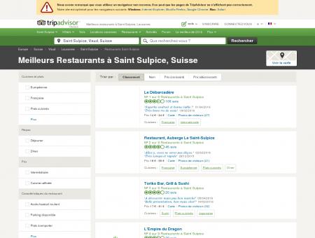 Les 5 meilleurs restaurants à Saint Sulpice -...