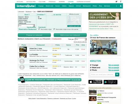 Restaurant Saint Leu D'esserent : Le guide des...