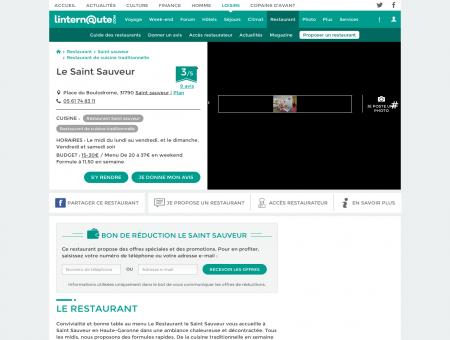 Le Saint Sauveur, restaurant de cuisine...