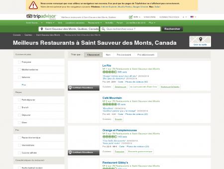 Les 10 meilleurs restaurants à Saint Sauveur...