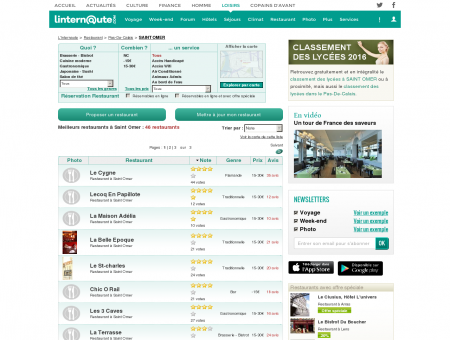 Restaurant Saint Omer : Le guide des...
