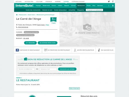 Le Carré de l'Ange, restaurant gastronomique...